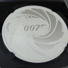最高鑑定◆2020年 007ジェームズ・ボンド/First Releases/Tuvalu1$ 銀貨 NGC MS70 シルバー モダンコイン エリザベス