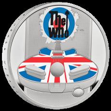 2021年イギリス☆ミュージックレジェンズ:ザ・フー(The Who) 2ポンド銀貨 1オンス 彩色 プルーフ エリザベス箱&クリアケース付き 新品未使用