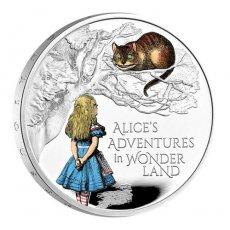 2021 イギリス 不思議の国のアリス 2ポンド銀貨 1オンス プルーフ  エリザベス 箱&クリアケース付き 新品未使用