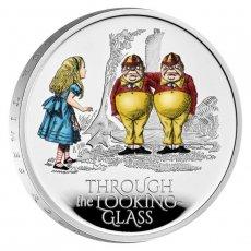2021 イギリス 鏡の国のアリス  2ポンド銀貨 1オンス プルーフ  エリザベス 箱&クリアケース付き 新品未使用