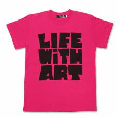 【Life With Art Tシャツ】ピンク