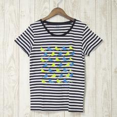 mjuk(ミューク)★bird/ボーダーTシャツ