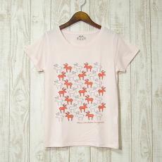 mjuk(ミューク)★Reindeer★トナカイ/ライトピンクTシャツ