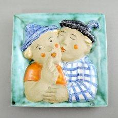 Walter Bosse(ウォルター・ボッセ)★陶板「夫婦のhug」/120515