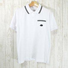 Walter Bosse.jp(ウォルター・ボッセjp)★半袖鹿の子ポロシャツ/ハリネズミ/white