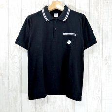 Walter Bosse.jp(ウォルター・ボッセjp)★半袖鹿の子ポロシャツ/ハリネズミ/black