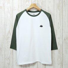 Walter Bosse.jp(ウォルター・ボッセjp)★7分袖ラグランTシャツ/ハリネズミ/green×white