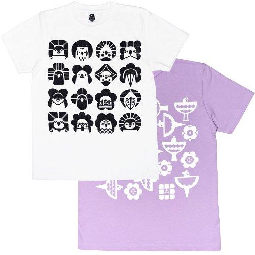 2021花小鳥文様・花を囲むコトリタチKIDSTシャツ