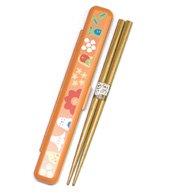 箸箱セット【草花とインコ】