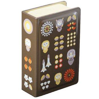フクロウ柄のブック弁当箱