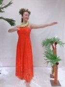 orangeクラッシュベロア(モンステラ模様付き)