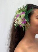 カトレア紫 ヘアクリップ