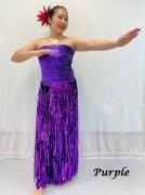 セロファンスカート チューブトップ付き 紫