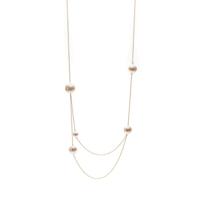Random Pearl Double Necklace(ランダムパールネックレス)