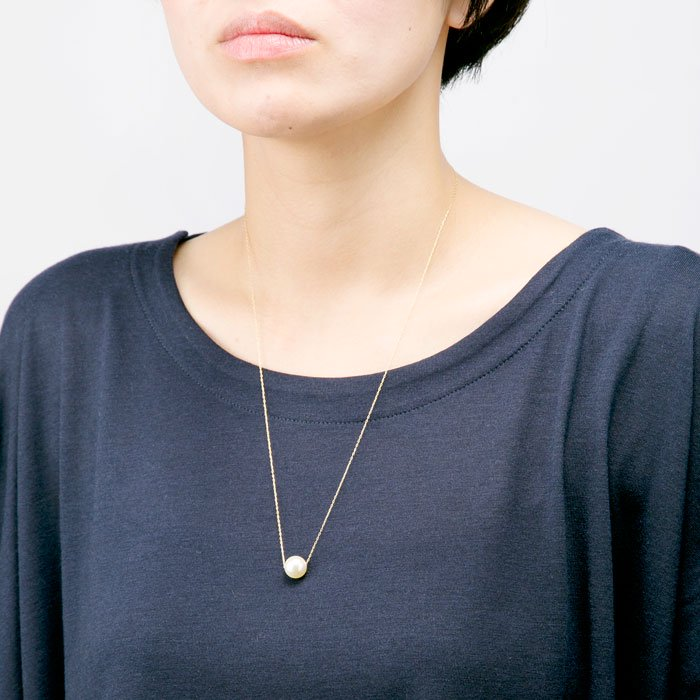 Single Pearl Long Necklace(一粒パール ロングネックレス)