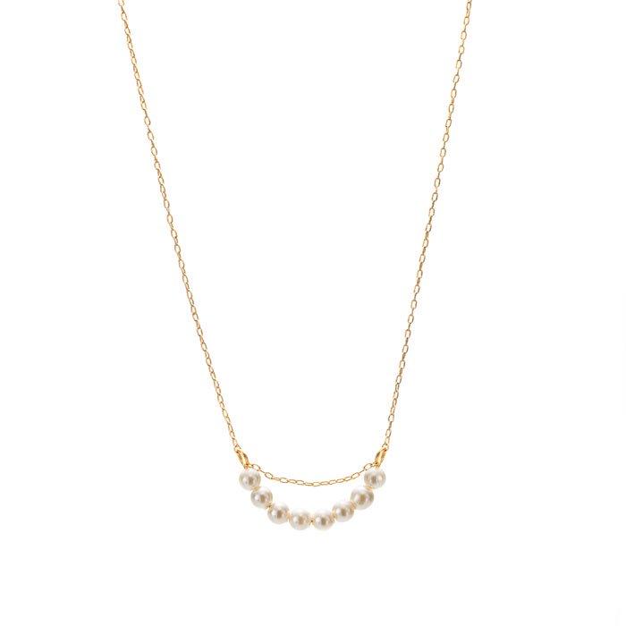 小粒パールのアーチ型ネックレス