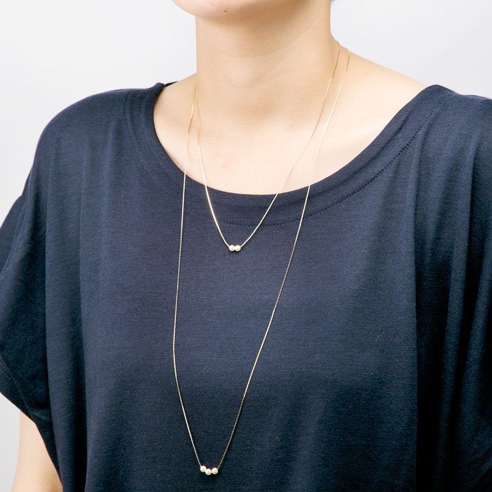 3 Pearl Necklace-78cm(3粒パールネックレス)