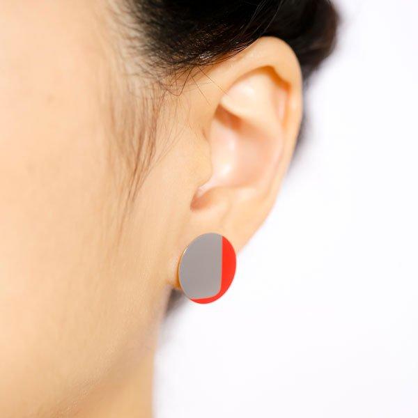 Silkscreen Printed Earrings - 2Colors - 01(2カラー シルクスクリーンイヤリング)