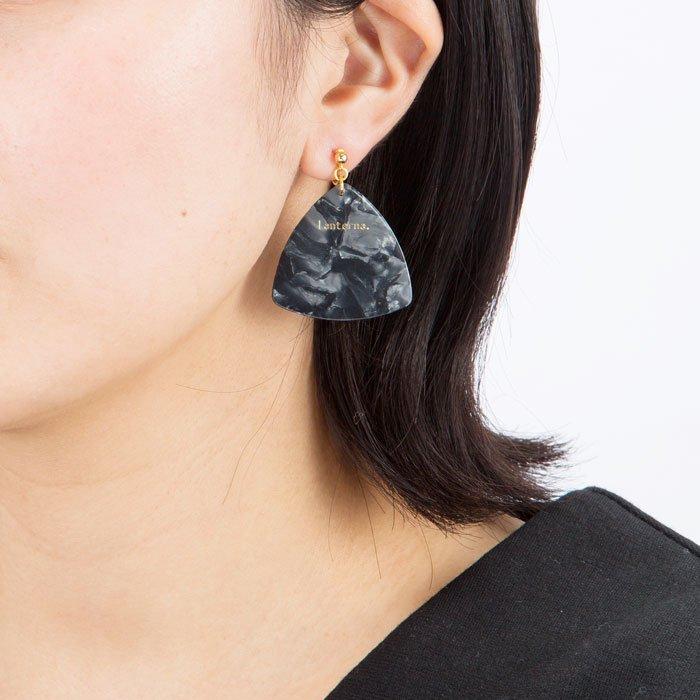 Pick Earring - Pearl Black (ピックのイヤリング - パールブラック)