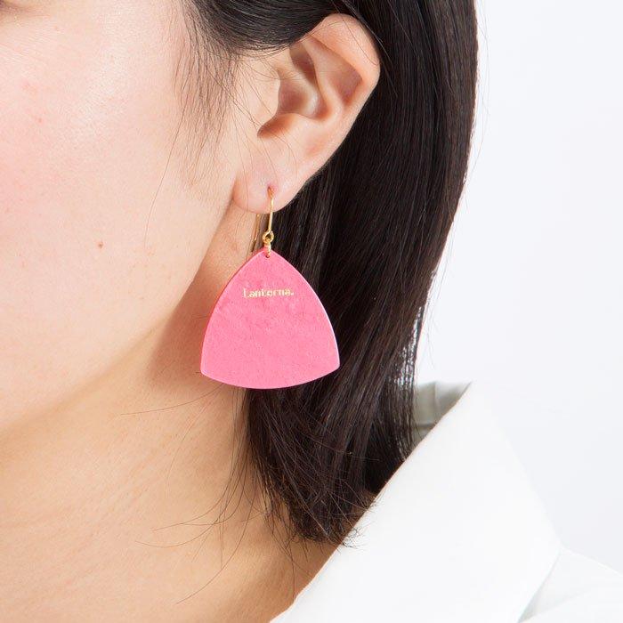 Pick Hook - Pink (ピックのピアス - ピンク)