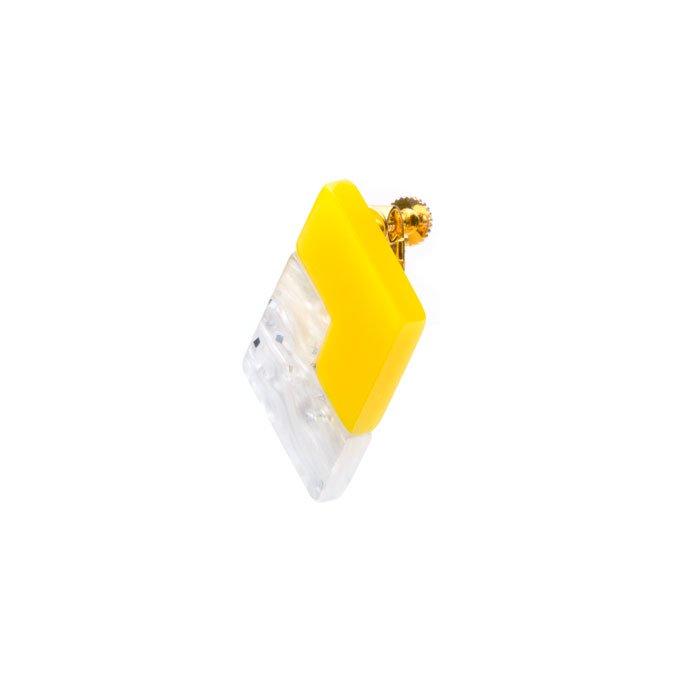 Acrylic Combi Earring(2色アクリルのイヤリング)