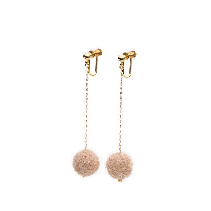 Felt Ball Threader Earrings(小粒フェルトとチェーンのイヤリング)