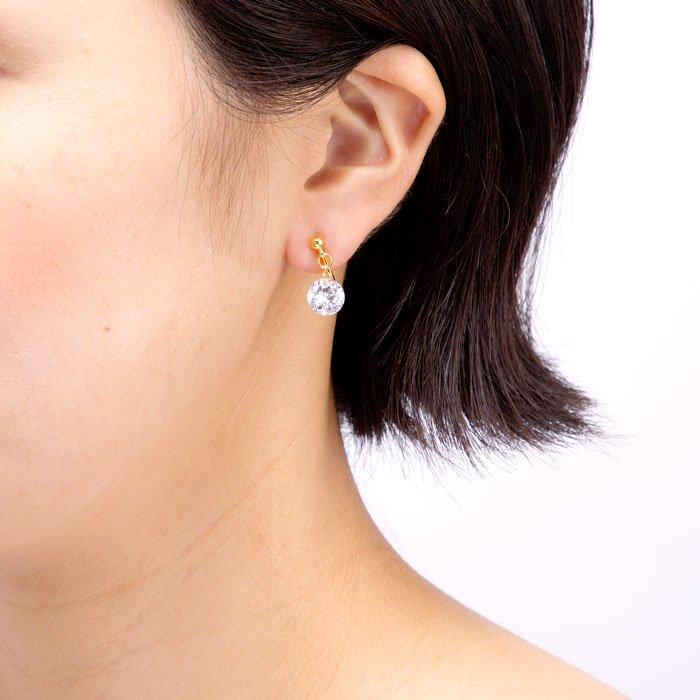 Bare Gem Earrings(大粒ジルコニアのイヤリング)