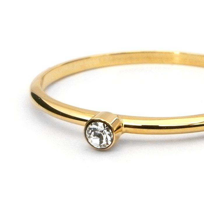 Tiny 1 Stone Ring - Crystal