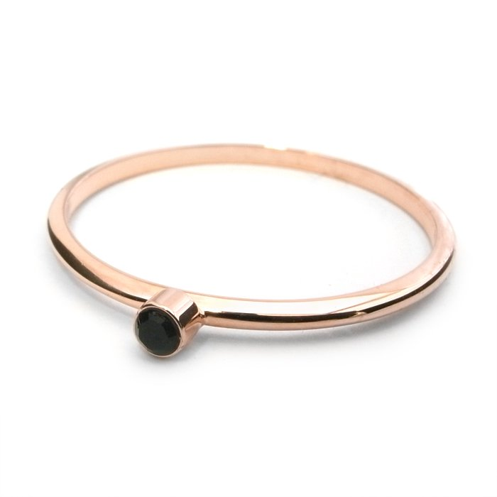 Tiny 1 Stone Ring - Jet