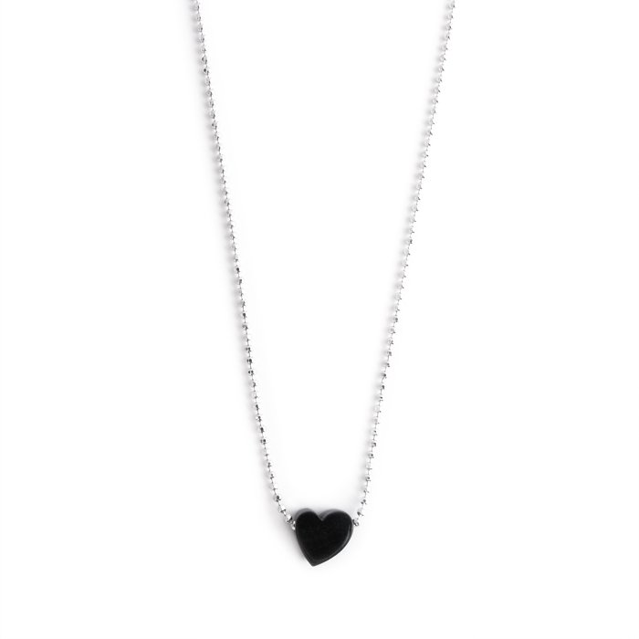 Paint Heart Necklace - monotone(モノトーンのハート ネックレス)