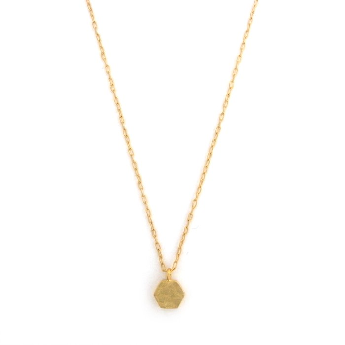 Tiny Honeycomb Necklace(とても小さな六角形モチーフネックレス)