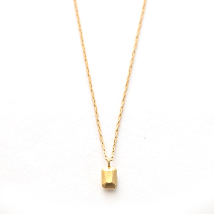 Casted Gem Necklace - Emerald Cut