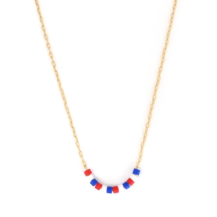 Skinny Beaded Necklace - French