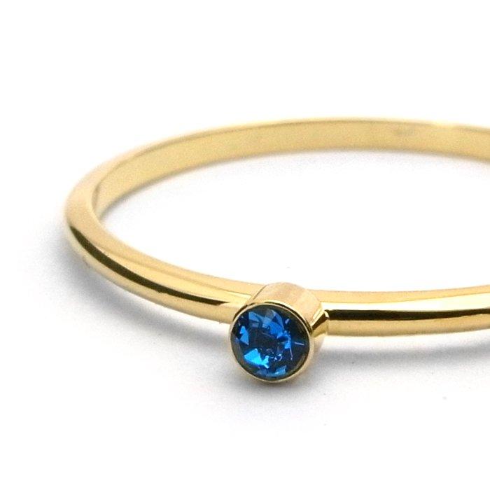 Tiny 1 Stone Ring - Sapphire