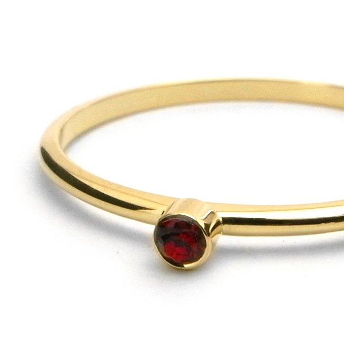Tiny 1 Stone Ring - Ruby