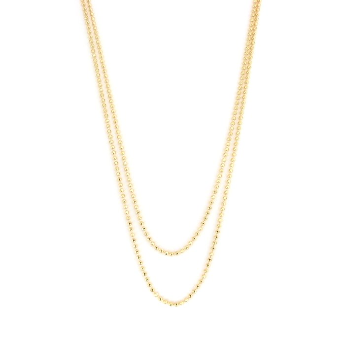 Plain Long Necklace - Ball Chain