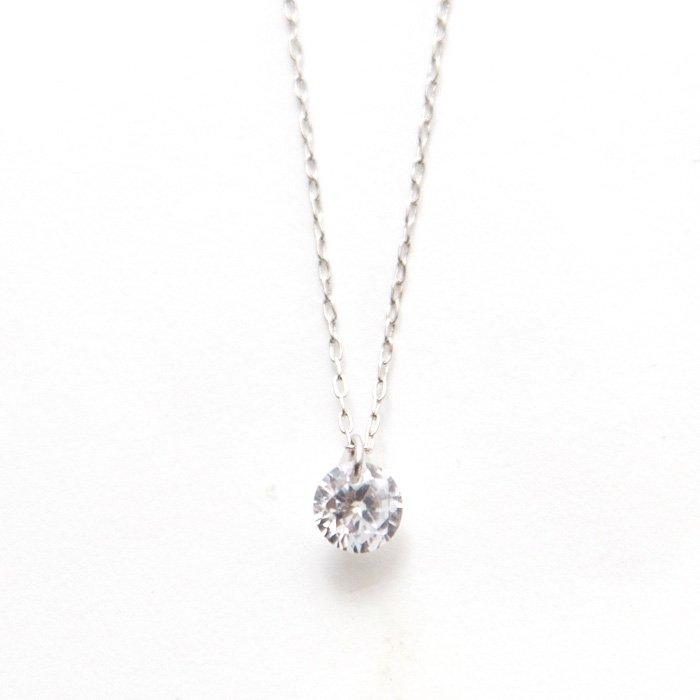 Small Bare Gem Necklace(小粒ジルコニアのネックレス)