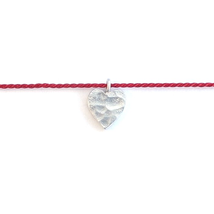 Tiny Heart Silk Necklace