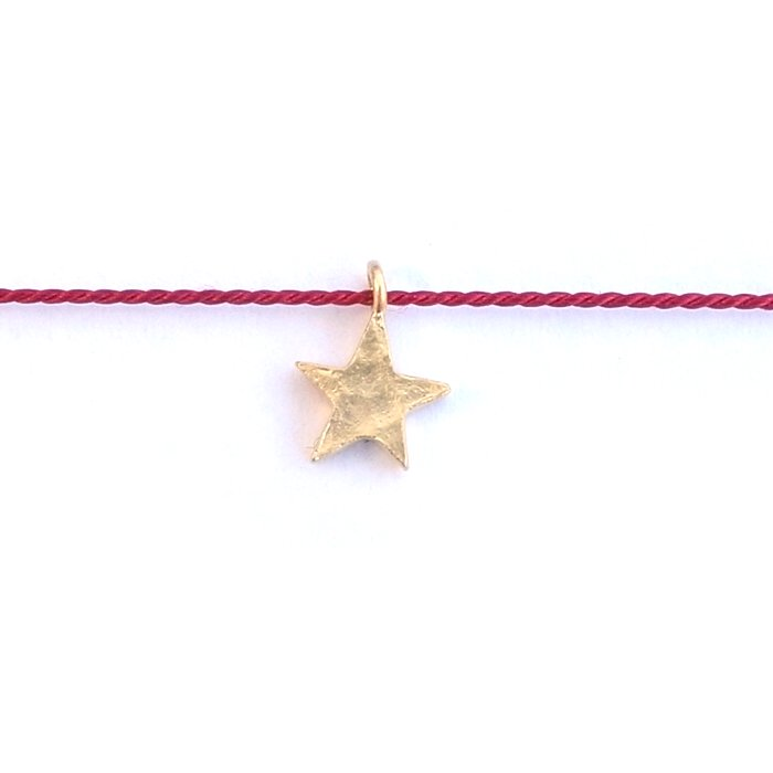 Tiny Star Silk Necklace