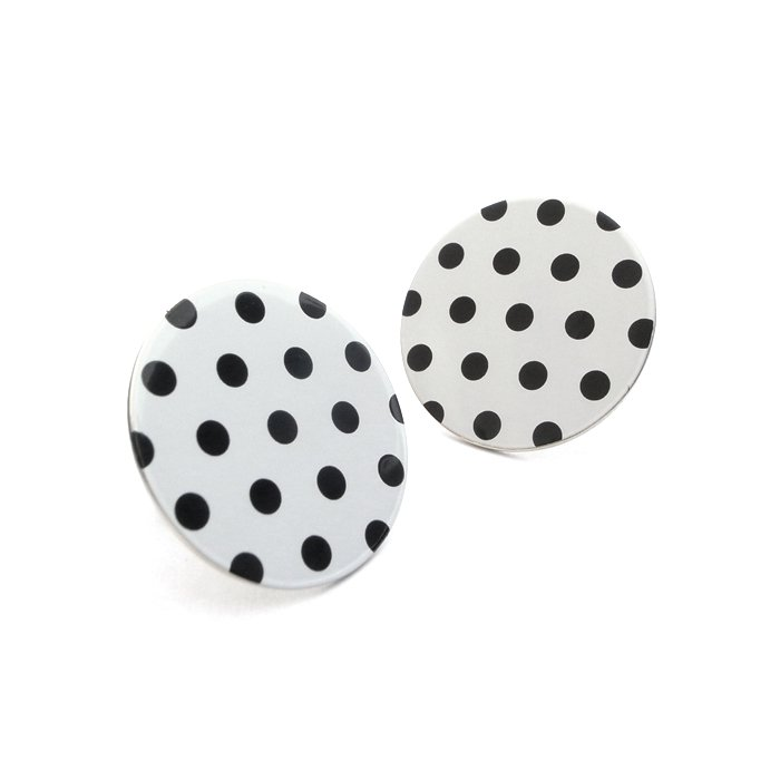 Silkscreen Printed Posts - Dot Pattern(2Layer) - monotone