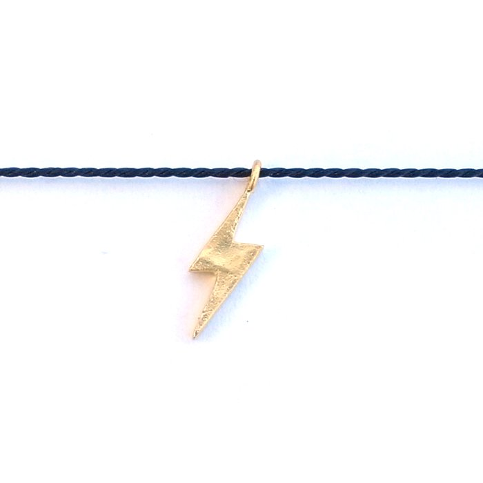 Tiny Lightning Silk Necklace