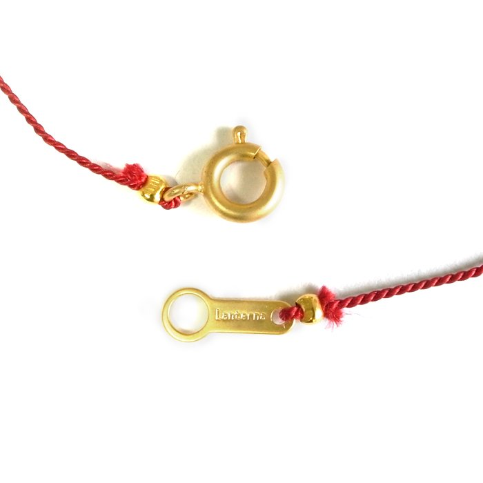 Bare Gem Silk Necklace(大粒ジルコニアのシルク紐ネックレス)
