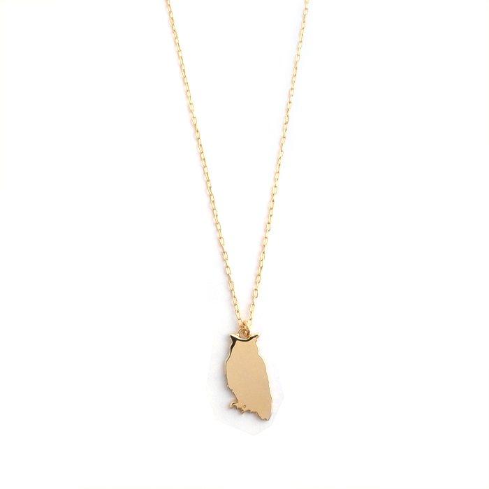 フクロウのネックレス・メタル
