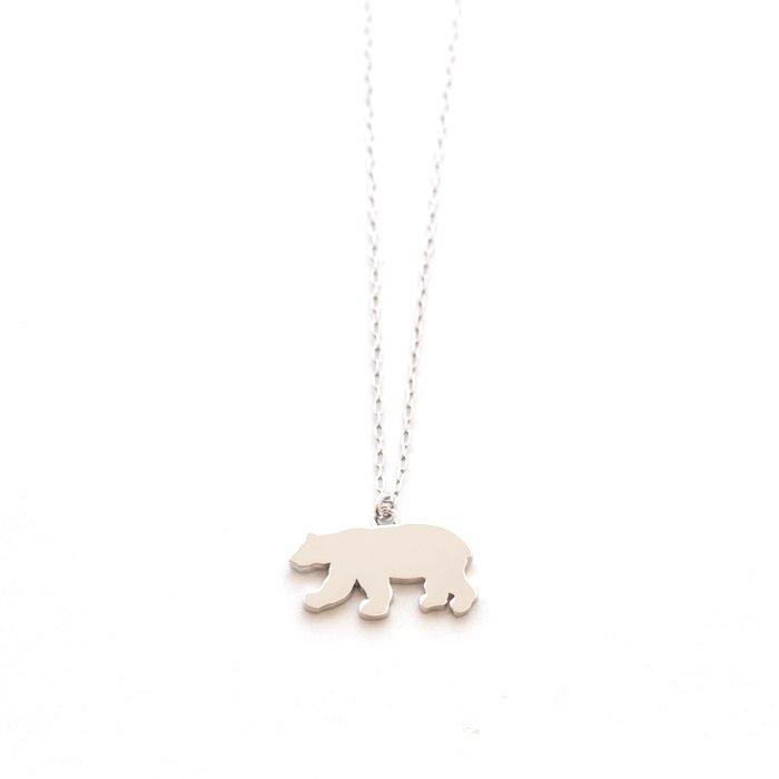 シロクマのネックレス・メタル