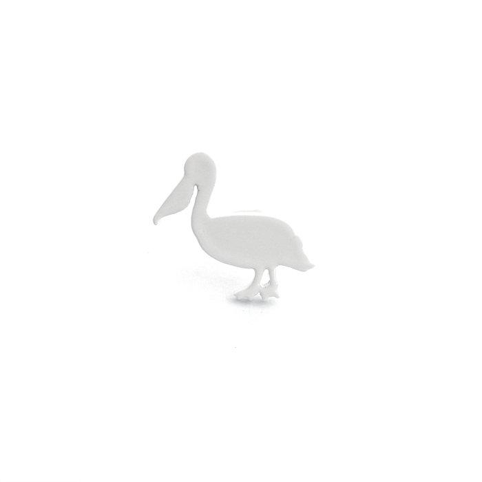 Safari Monotone Pins - Pelican (サファリモノトーンピンズ - ペリカン)