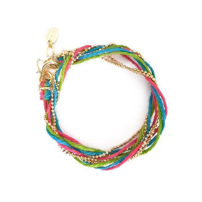 Hemp and Chain anklet / Necklace - Primary (ヘンプとチェーンアンクレット - プライマリー)