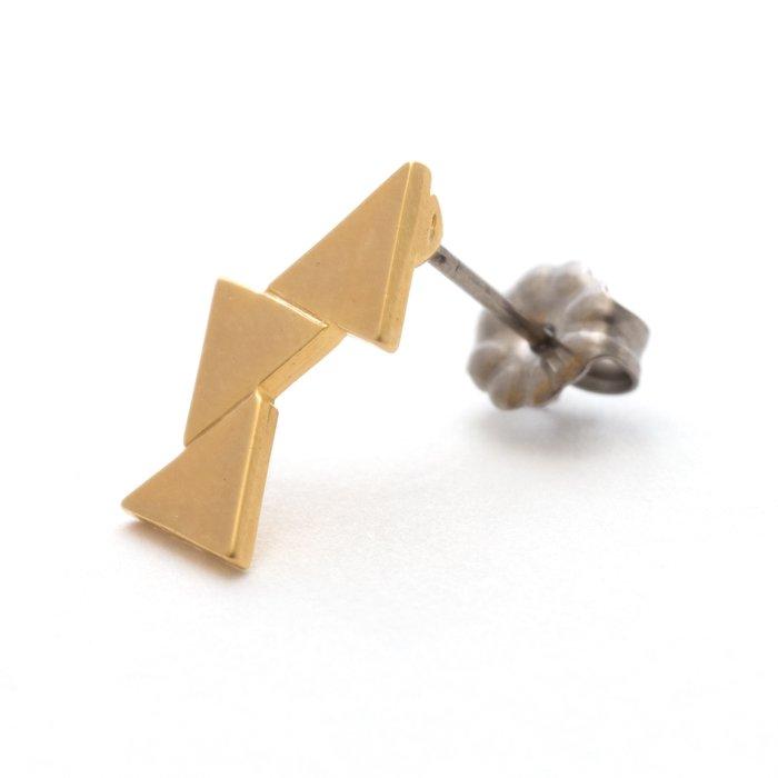 Geometric Pattern Posts - Triangle(幾何学模様のピアス-三角形)