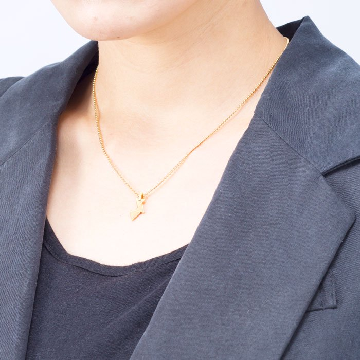 Geometric Pattern Necklace - Triangle(幾何学模様のネックレス-三角形)