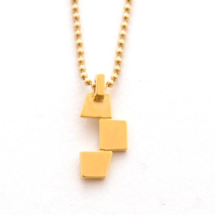 Geometric Pattern Necklace - Trapezoid(幾何学模様のネックレス-台形)
