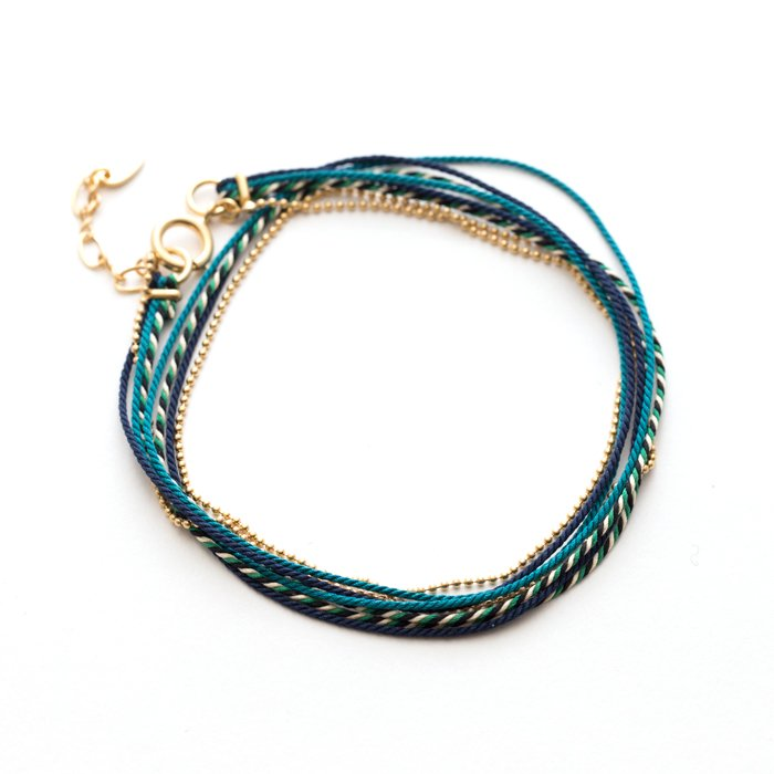 Kumihimo and Chain Bracelet , 02 (くみひもチェーンブレスレット , 02)